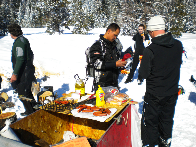 Hotdogs on the hill